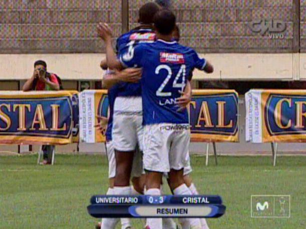 Así goleó Sporting Cristal a Universitario (VIDEO)