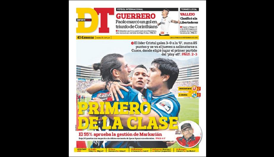 Kiosko Deportivo: Victoria de Sporting Cristal en las portadas (FOTOS)