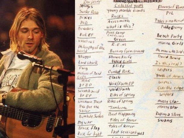 Discos de The Beatles y Aerosmith entre los favoritos de Kurt Cobain