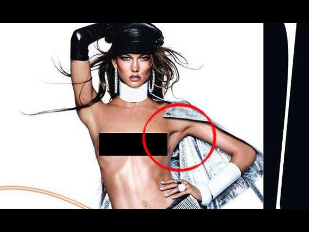 Karlie Kloss sufre desastre de Photoshop en la revista Vogue