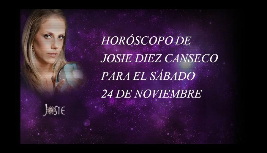 Hor&oacute;scopo de hoy, s&aacute;bado 24 de noviembre, seg&uacute;n Josie Diez Canseco (FOTOS)