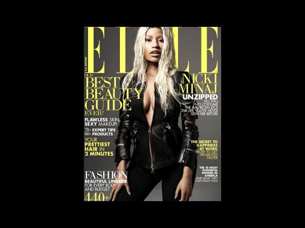 Nicki Minaj se luce al natural para la revista Elle (FOTOS)