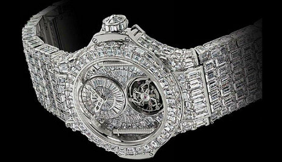 1.	Hublot 2 Million Euro BB. La tecnología más precisa y un diseño exclusivo con diamantes incrustados.