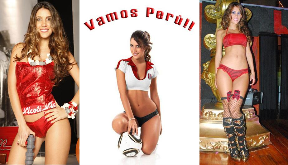 Perú vs. Chile: Bella Vanessa Tello se une al aliento a la 'Bicolor' (FOTOS)