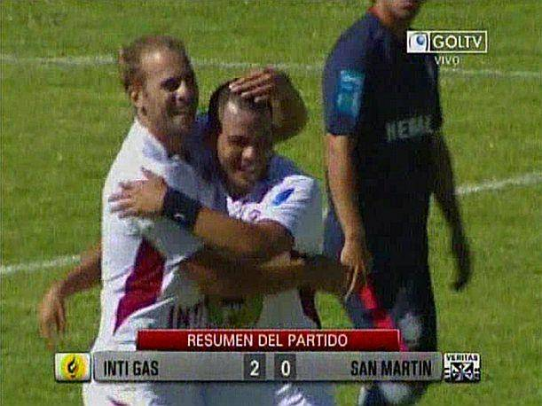 Descentralizado 2013: Goles del Inti Gas vs. San Martín (VIDEO)
