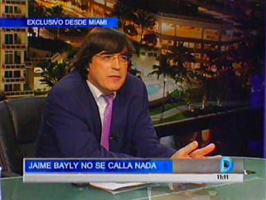 Jaime Bayly: &quot;Extra&ntilde;o la televisi&oacute;n peruana&quot; (VIDEO)