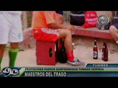 Tumbes: Profesores suspenden clases para beber licor
