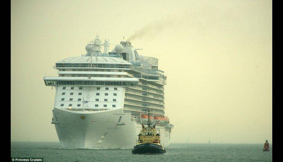 Conoce el lujoso crucero inaugurado por la duquesa de Cambridge. (Foto: Dailymail.co.uk/ Princess Cruises)
