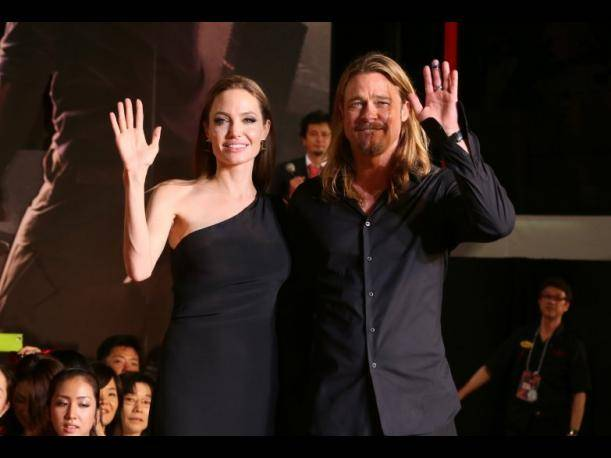Angelina Jolie y Brad Pitt viajan a Japón para promocionar World War Z. (Foto: Getty Images)