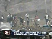 Puente Piedra: Policía desaloja a 1,500 invasores de terreno del Estado (VIDEO)