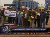 Lima: Transportistas suspenden movilización al Congreso de la República (VIDEO)