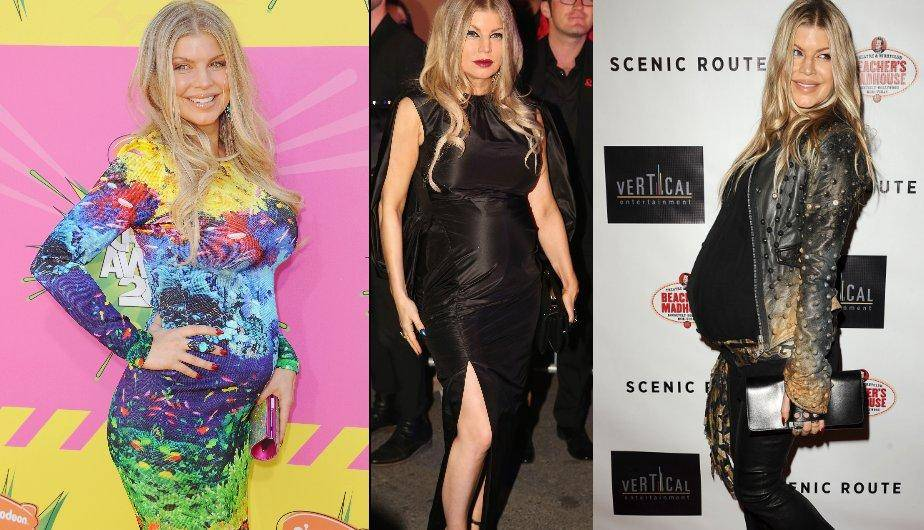Fergie no pierde su estilo a pesar de su embarazo. (Foto: Getty Images)