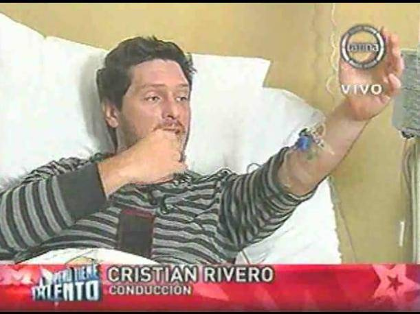 Cristian Rivero fue internado en una clínica local (VIDEO)