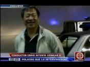 La Victoria: Chofer ebrio y de origen chino intenta sobornar a policías (VIDEO)