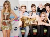 Taylor Swift copia el vestido que Rosie Huntington-Whiteley usó con Harry Styles