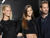 Paul Walker junto a Izabel Goulart y Erin Heatherton en Sao Paulo Fashion Week 2013