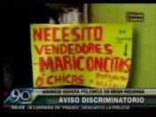 Mesa Redonda: Anuncio laboral solicita vendedores 'mariconcitos' o chicas (VIDEO)