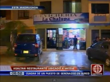 Asaltan restaurante ubicado a media cuadra de serenazgo