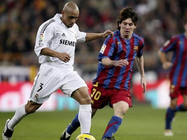 Image result for roberto carlos and messi