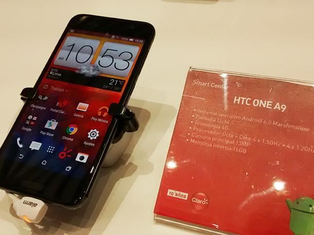 HTC One A9 Android Marshmallow Perú