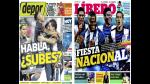 Alianza Lima y Universitario destacan en las portadas nacionales - Noticias de junior ross