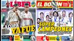Universitario y Real Madrid destacan en las portadas nacionales - Noticias de sebastian universitario
