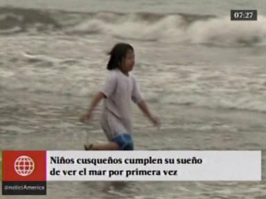 Perú: así reaccionaron niños cusqueños al ver el mar por 1era vez