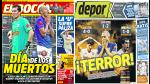 Alianza Lima, Universitario y Sporting Cristal destacan en las portadas locales - Noticias de willy rivas