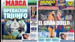 Champions League acaparan las portadas internacionales deportivas - Noticias de vicente carrillo