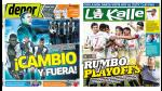 Alianza Lima y Universitario en las portadas de los diarios - Noticias de play off real garcilaso vs universitario