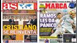 Cristiano Ronaldo y Real Madrid destacan en las portadas deportivas internacionales - Noticias de france football