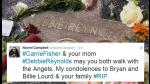 Hollywood llora la muerte Debbie Reynolds y Carrie Fisher - Noticias de naomi campbell