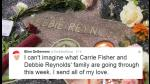 Hollywood llora la muerte Debbie Reynolds y Carrie Fisher - Noticias de twitter dwayne johnson
