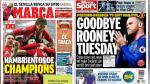 Atlético Madrid, Champions y Rooney a China en portadas internacionales - Noticias de wayne rooney