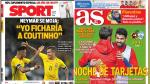 Eliminatorias Rusia 2018, Neymar y Real Madrid en portadas internacionales - Noticias de fc barcelona
