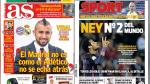 Real Madrid, Barcelona y la Champions League en portadas internacionales - Noticias de raphael perez