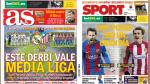 Real Madrid vs Atlético Madrid son protagonistas de las portadas internacionales - Noticias de plaza washington