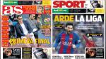 Real Madrid y Barcelona destacan en las principales portadas internacionales - Noticias de real madrid vs las palmas