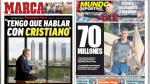 Cristiano, Real Madrid y fichajes del Barcelona en portadas internacionales - Noticias de paris saint