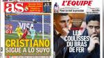 Cristiano Ronaldo, Portugal y Barcelona en portadas internacionales - Noticias de paris saint germain