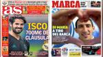 FC Barcelona, Real Madrid y PSG destacan en las portadas internacionales - Noticias de angel di maria