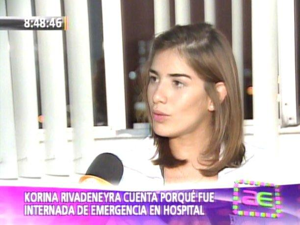 Video Korina Rivadeneira revela por qué fue internada en hospital