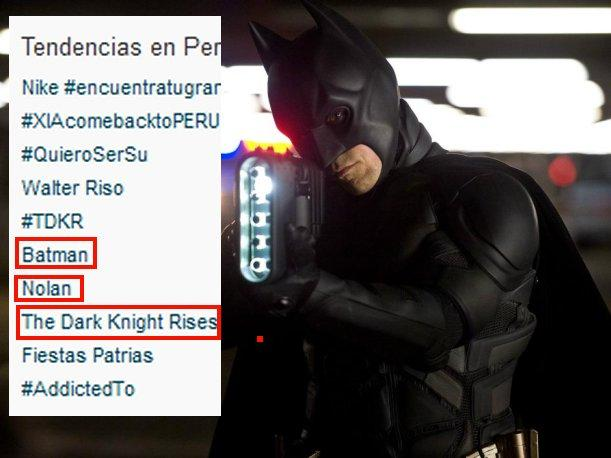 The Dark Knight Rises Batman también se apodera del Twitter
