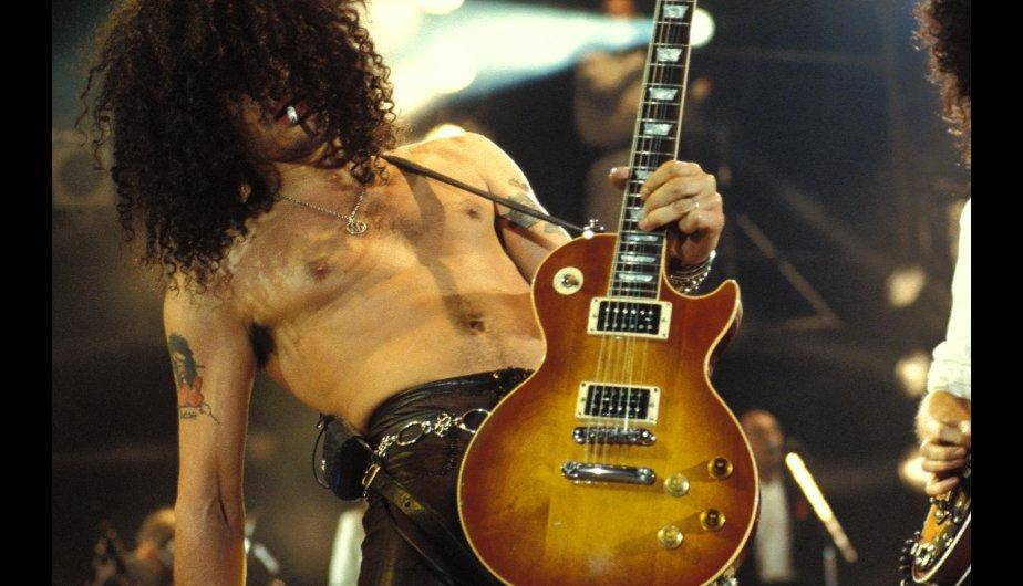 """Mitad humano, mitad bestia"", el ídolo del rock Slash. (Foto: Getty Images)"