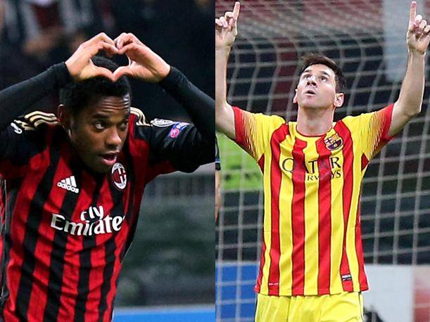 AC Milan vs. Barcelona Mira los goles de Robinho y Lionel Messi (VIDEO)