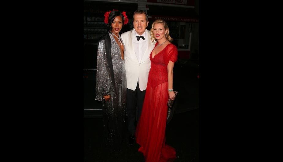 Entre las invitadas se encontraban Naomi Campbell y Kate Moss. (Foto: Getty Images)