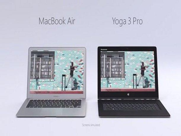 Microsoft compara a MacBook Air con Lenovo Yoga 3 Pro (VIDEO)