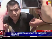 Pucallpa: Capturan a tres marcas tras un intenso tiroteo (VIDEO)