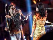 "Super Bowl: Lenny Kravitz se unió a Katy Perry en ""I kissed a girl"""