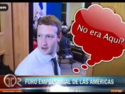 Mark Zuckerberg interrumpió por error a dos presidentes (VIDEO)